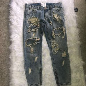 one tea spoon distressed jeans